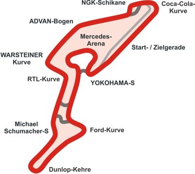 Verlauf der GP-Strecke