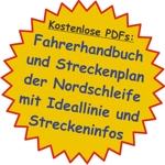 Kostenlose PDFs: Fahrerhandbuch und Streckenplan der Nordschleife mit Ideallinie und Streckeninfos