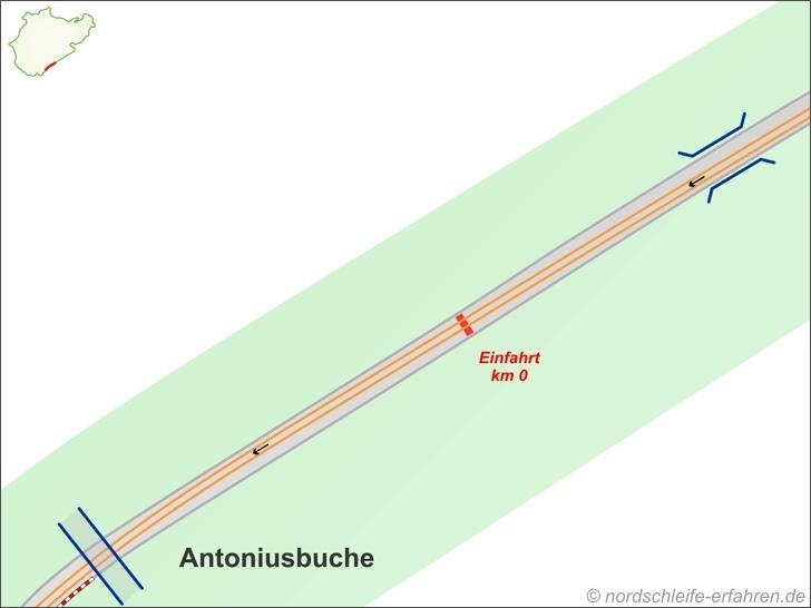 Ideallinie Streckenabschnitt Antoniusbuche